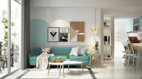 Xua tan nắng nóng với nội thất gam màu xanh ngọc