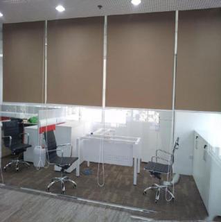 Lắp đặt rèm cuốn văn phòng tầng 2 cho công ty Maple Vsip Hải Phòng